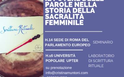 Seminario al Parlamento Europeo. Il potere delle parole nella storia della sacralità femminile