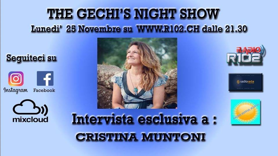 Cristina Muntoni: intervista in diretta a Radio 102
