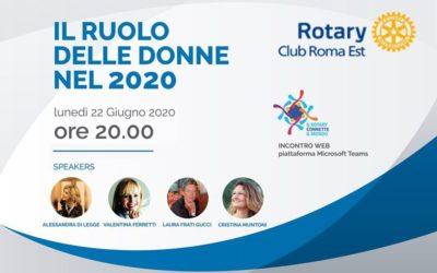 Il ruolo delle donne. Webinar Rotary Roma Est